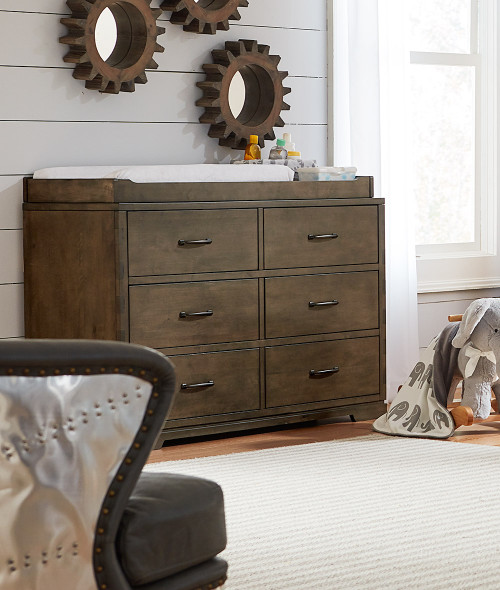 Westwood Dovetail Double Dresser in Graphite
