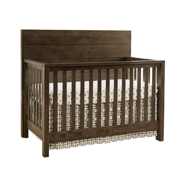 Westwood Dovetail 2 Piece Nursery Set - Double Dresser and Convertible Crib in Graphite