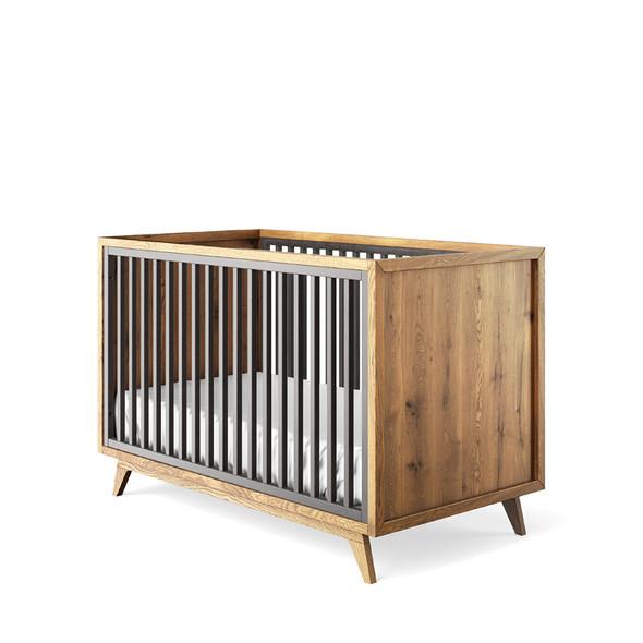 Romina Uptown Classic Crib in Oil Grey