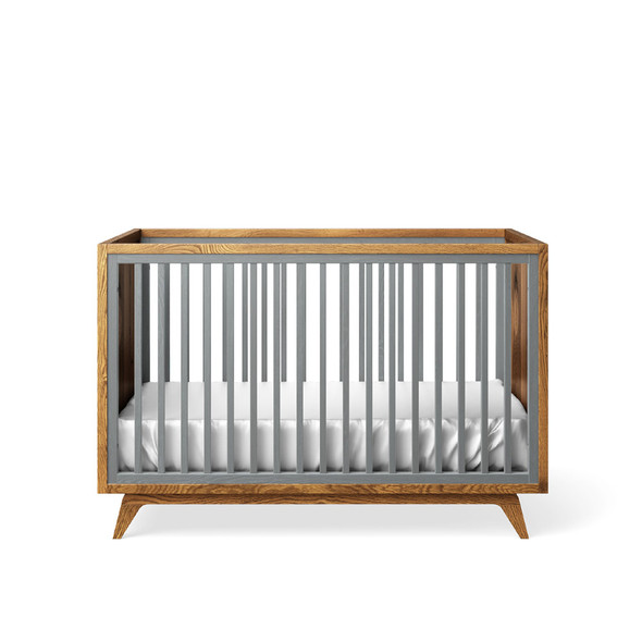 Romina Uptown Classic Crib in Washed Grey