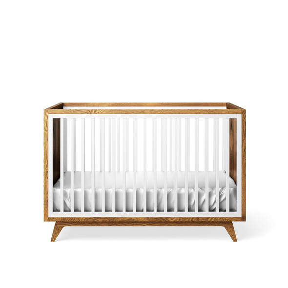 Romina Uptown Classic Crib in Solid White