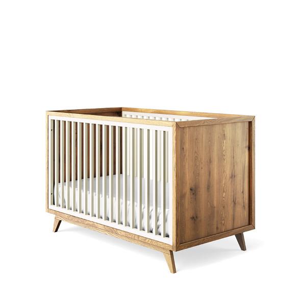 Romina Uptown Classic Crib in Bianco Satinato