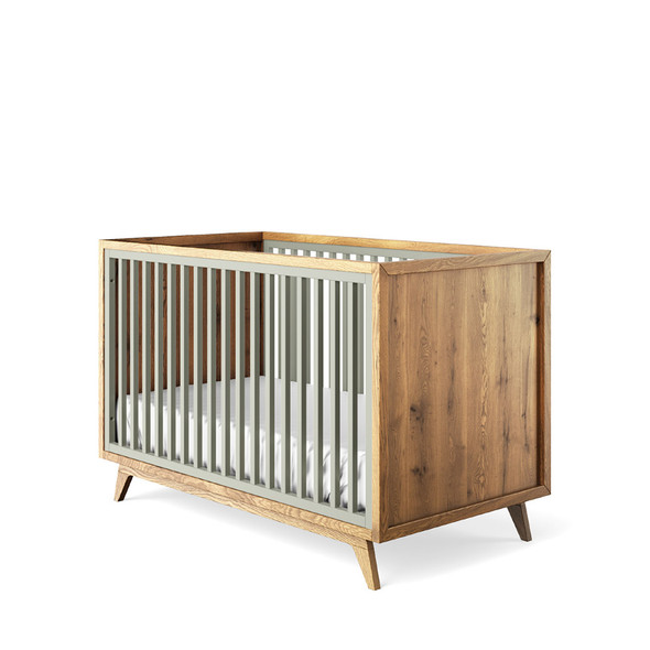 Romina Uptown Classic Crib in Vintage Grey