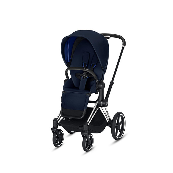 Cybex Priam 3 in Chrome/Black & Indigo Blue