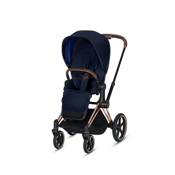 Cybex Priam 3 in Rose Gold & Indigo Blue