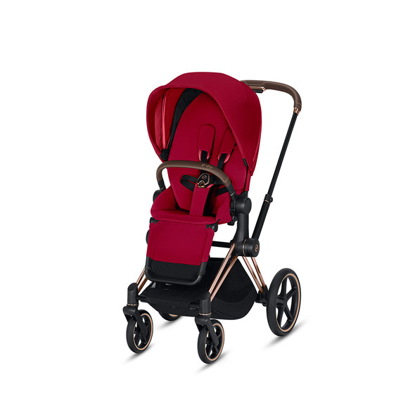 Cybex Priam 3 in Rose Gold & True Red