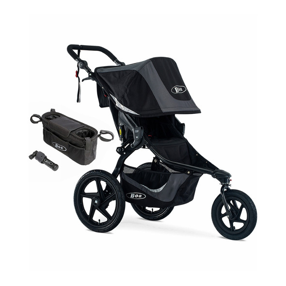 Bob Revolution Flex 3.0 Stroller Bundle in Graphite Black
