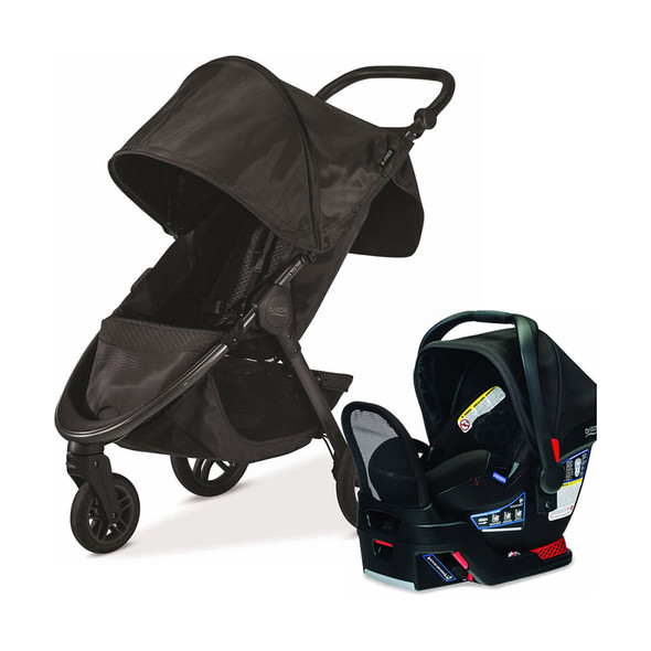 Britax B-Free & Endeavours Travel System in Midnight