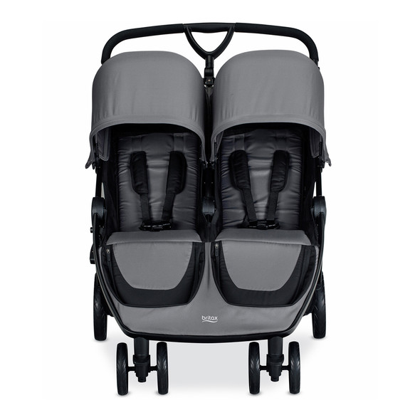 Britax B-Lively Double Stroller in Dove