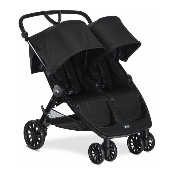 Britax B-Lively Double Stroller in Raven
