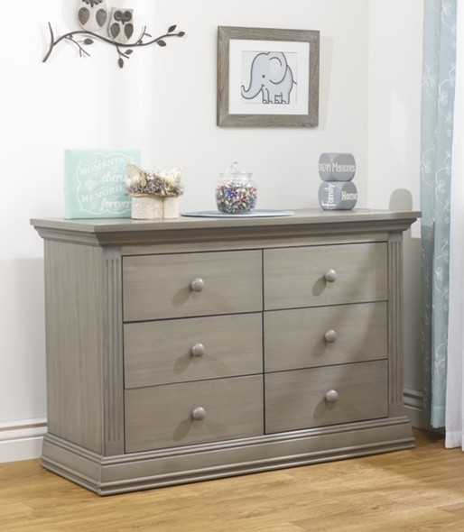 Sorelle Paxton Double Dresser RTA in Heritage Gray