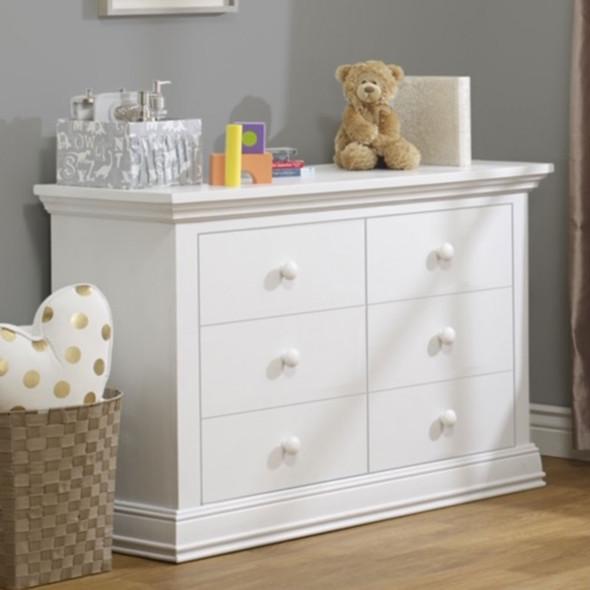 Sorelle Modesto Double Dresser RTA in White