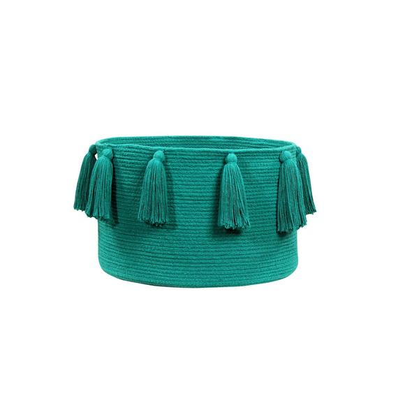 Lorena Canals BSK-TAS-VINTNU Tassels Vintage Nude Basket