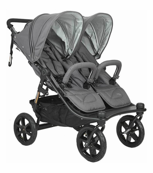 Valco Tri Mode Duo X Double Stroller in Dove Grey