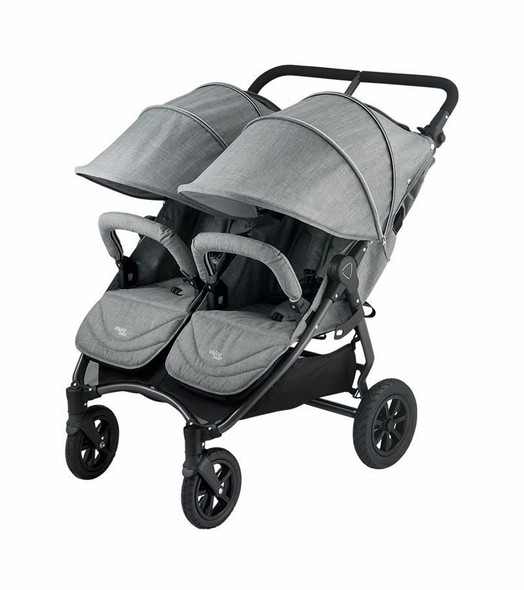 Valco Neo Twin Tailormade Double Stroller in Grey Marle