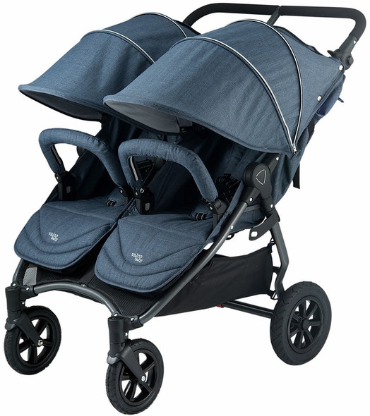Valco Neo Twin Tailormade Double Stroller in Denim Blue
