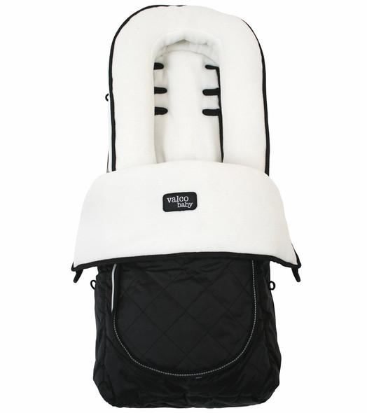 Valco Deluxe Footmuff in White Fleece