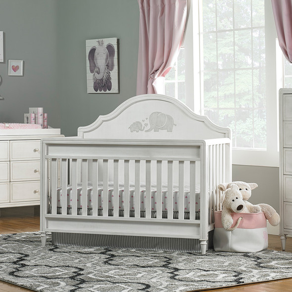 Dolce Babi Capri Full Panel Conv Crib in Linen