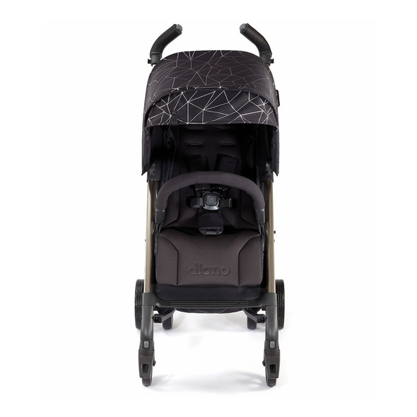 Diono Flexa 2019 Compact Stroller in Black Platinum
