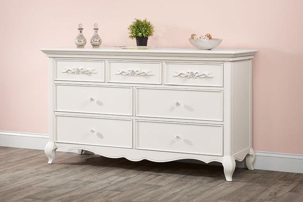 Oxford Baby Bella 7 Drawer Dresser in Pearl White