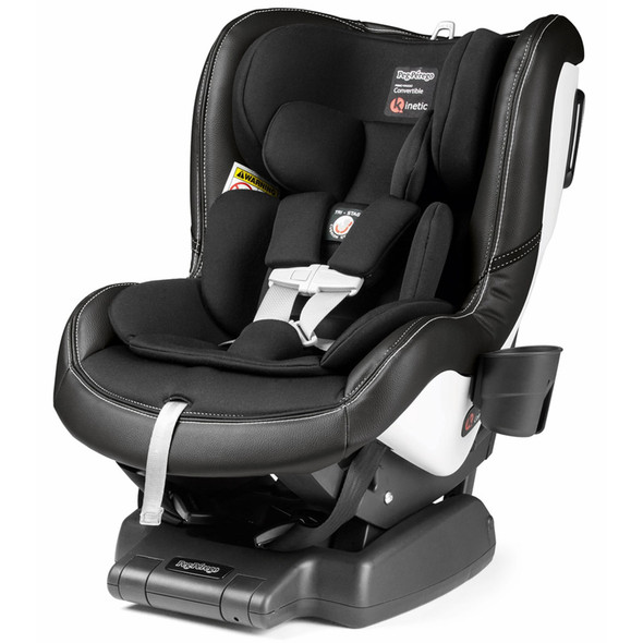 Peg Perego Primo Viaggio Convertible Kinetic Car Seat in Licorice- Black Eco-Leather