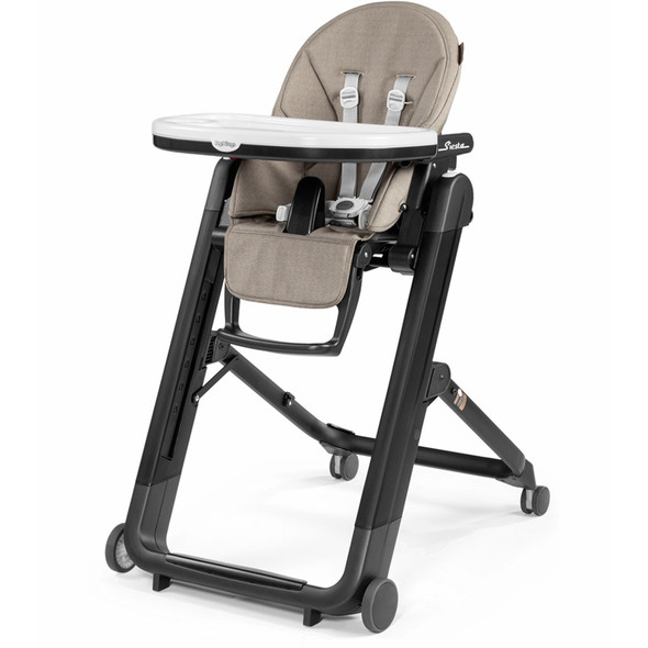 Peg Perego Siesta Highchair in Ginger Grey-charcoal chassis