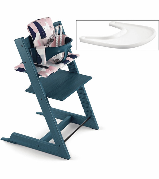 Stokke Tripp Trapp Complete High Chair in Midnight Blue with Paintbrush Cushion