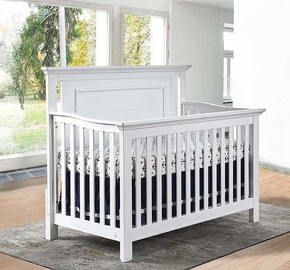 Pali Como Flat Top Crib in Vintage White