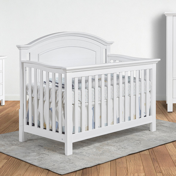 Pali Como Convertible Crib in Vintage White