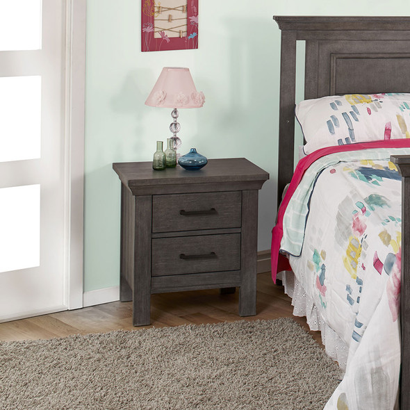 Pali Como Nightstand in Distressed Granite