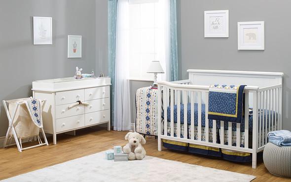 Sorelle Berkley Elite Complete Room (4 In 1 Crib, Hamper, And Double Dresser) in White