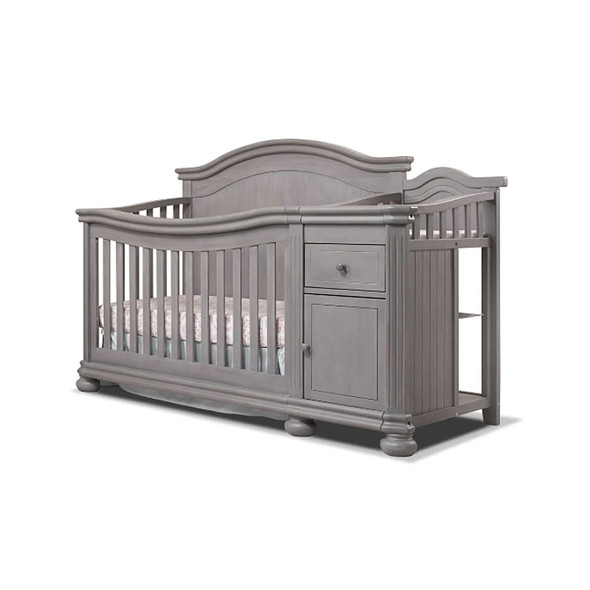 Sorelle Finley Crib & Changer in Weathered Gray