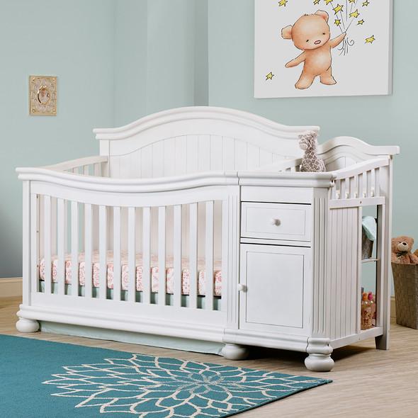 Sorelle Finley Crib & Changer in White