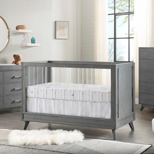 Oxford Baby Holland Island Acrylic Crib in Cloud Gray