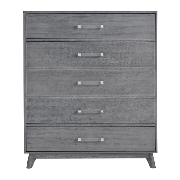Oxford Baby Holland 5 Dr Chest in Cloud Gray