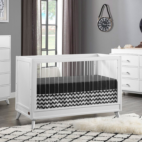 Oxford Baby Holland Island Acrylic in Crib White