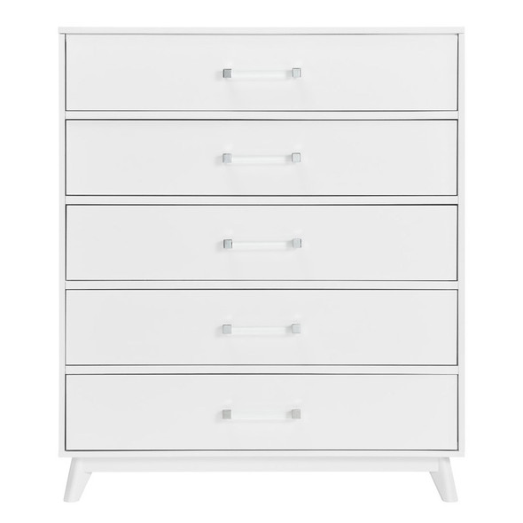 Oxford Baby Holland 5 Dr Chest in White