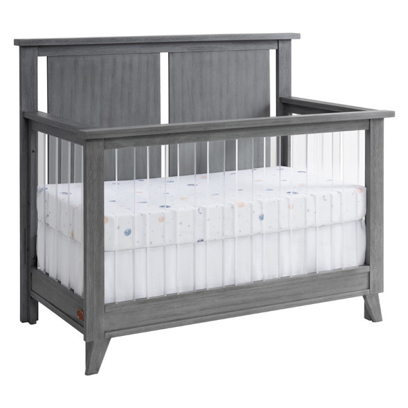Oxford Baby Holland 3 Piece Nursery Set- Convertible Crib, 6 Drawer Dresser and 5 Drawer Chest in Cloud Gray
