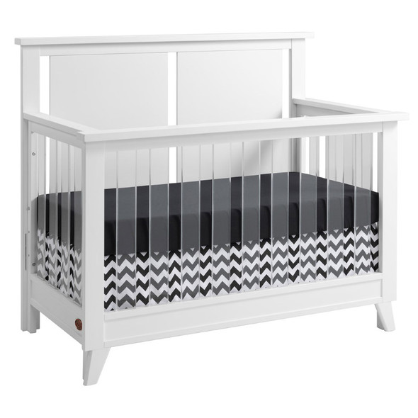Oxford Baby Holland 2 Piece Nursery Set - Convertible Crib and 6 Drawer Dresser in White