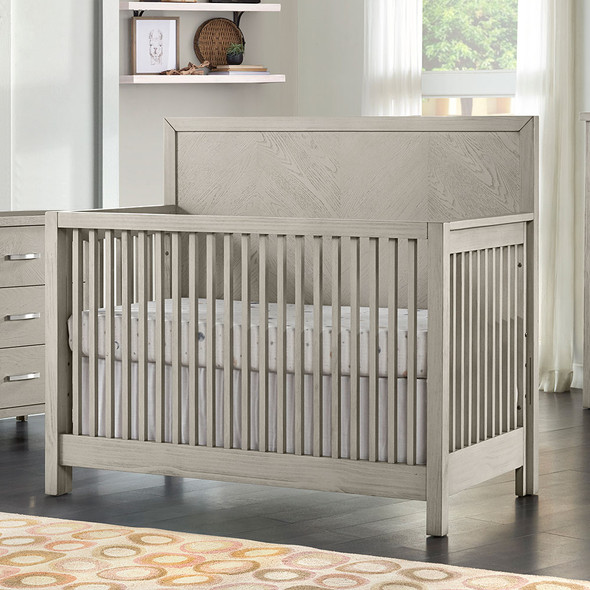 Oxford Baby Phoenix 4 In 1 Convertible Crib in Weathered Oak