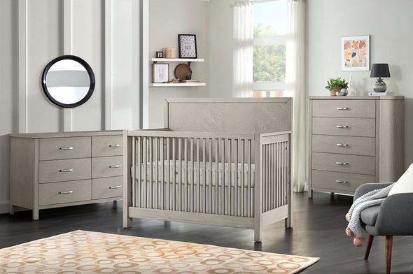 Oxford Baby Phoenix 3 Piece Nursery Set- Convertible Crib, 6 Drawer Dresser and 5 Drawer Chest