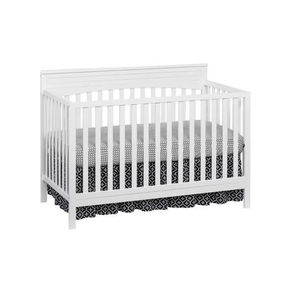 Oxford Baby Harper 4 In 1 Convertible Crib in Snow White