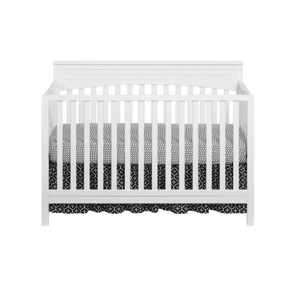 Oxford Baby Harper 4 In 1 Convertible Crib in Snow White
