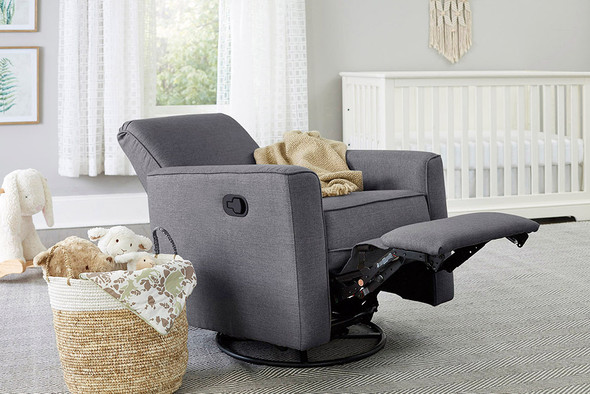 Westwood Aspen Swivel and Manual Reclining Glider in Stone