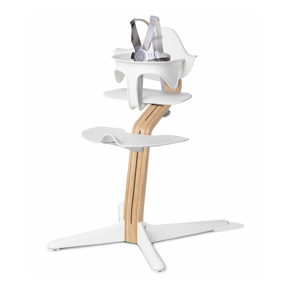 Nomi Highchair White in White Oak