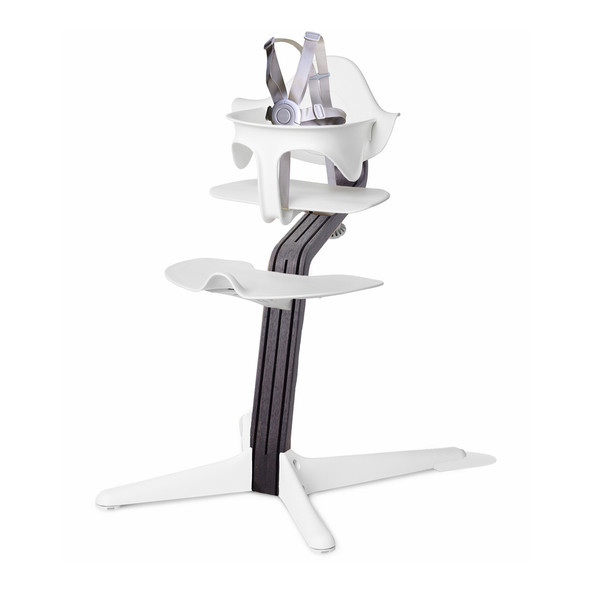 Nomi Highchair White in Black Oak