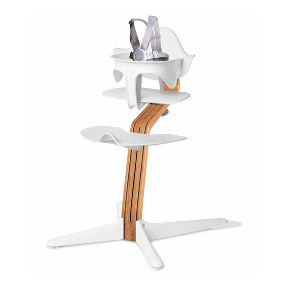 Nomi Highchair White in Natural Oak