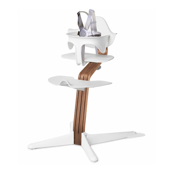 Nomi Highchair White in Walnut