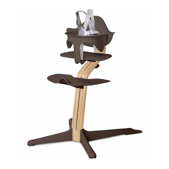 Nomi Highchair Coffee in White Oak