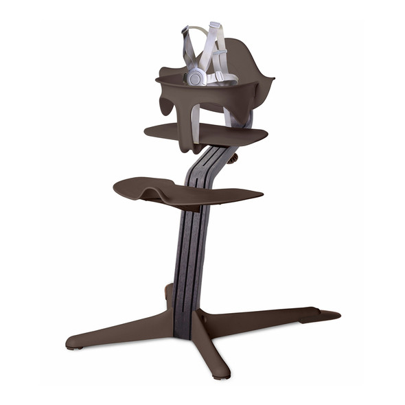 Nomi Highchair Coffee in Black Oak